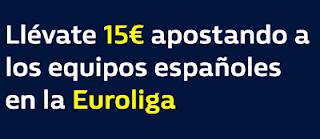william hill promocion Euroliga equipos españoles 21 marzo
