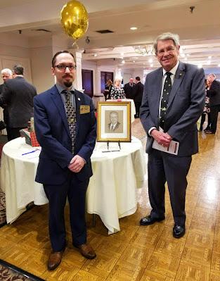 Travis Simpkins and M.W. Paul F. Gleason, Past Grand Master of the Grand Lodge of Massachusetts