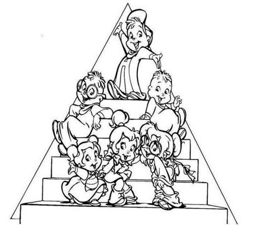 Alvin and The Chipmunks Coloring Pages | Learn To Coloring