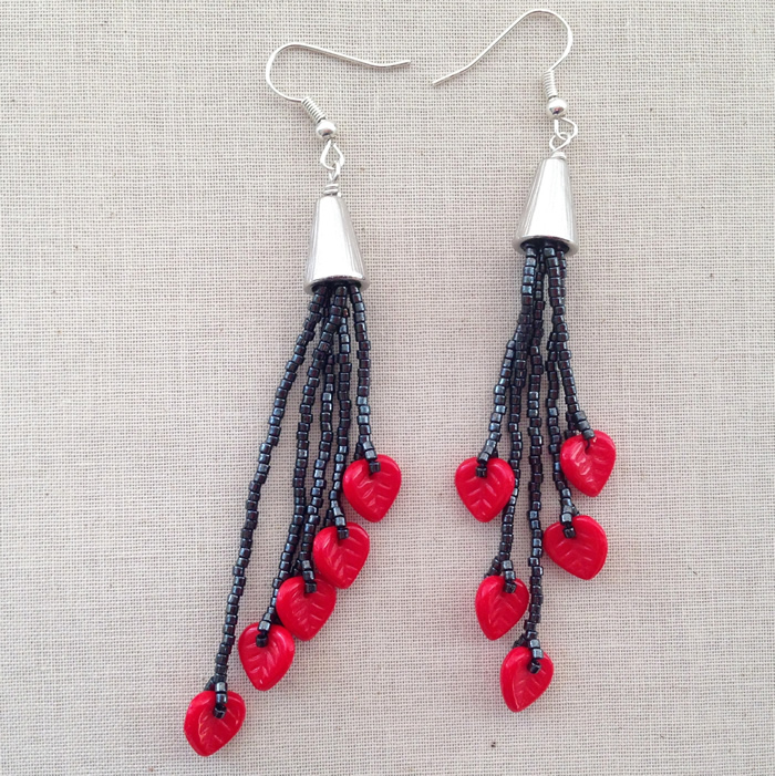 Free DIY to make long shoulder duster tassel earrings: Lisa Yang's Jewelry Blog