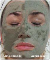 Resultado da argila verde na face