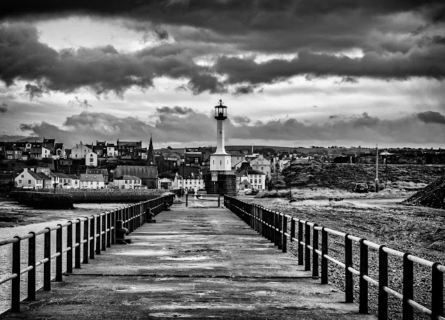 A black and white conversion of one of my photos taken along the pier