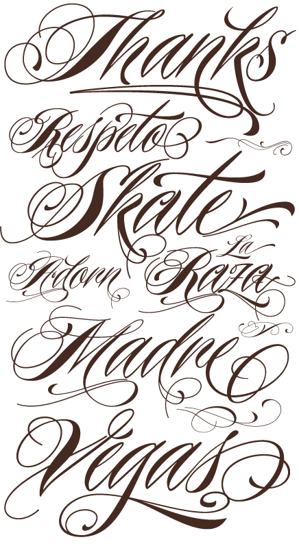 tattoo lettering styles fonts characters designs 336