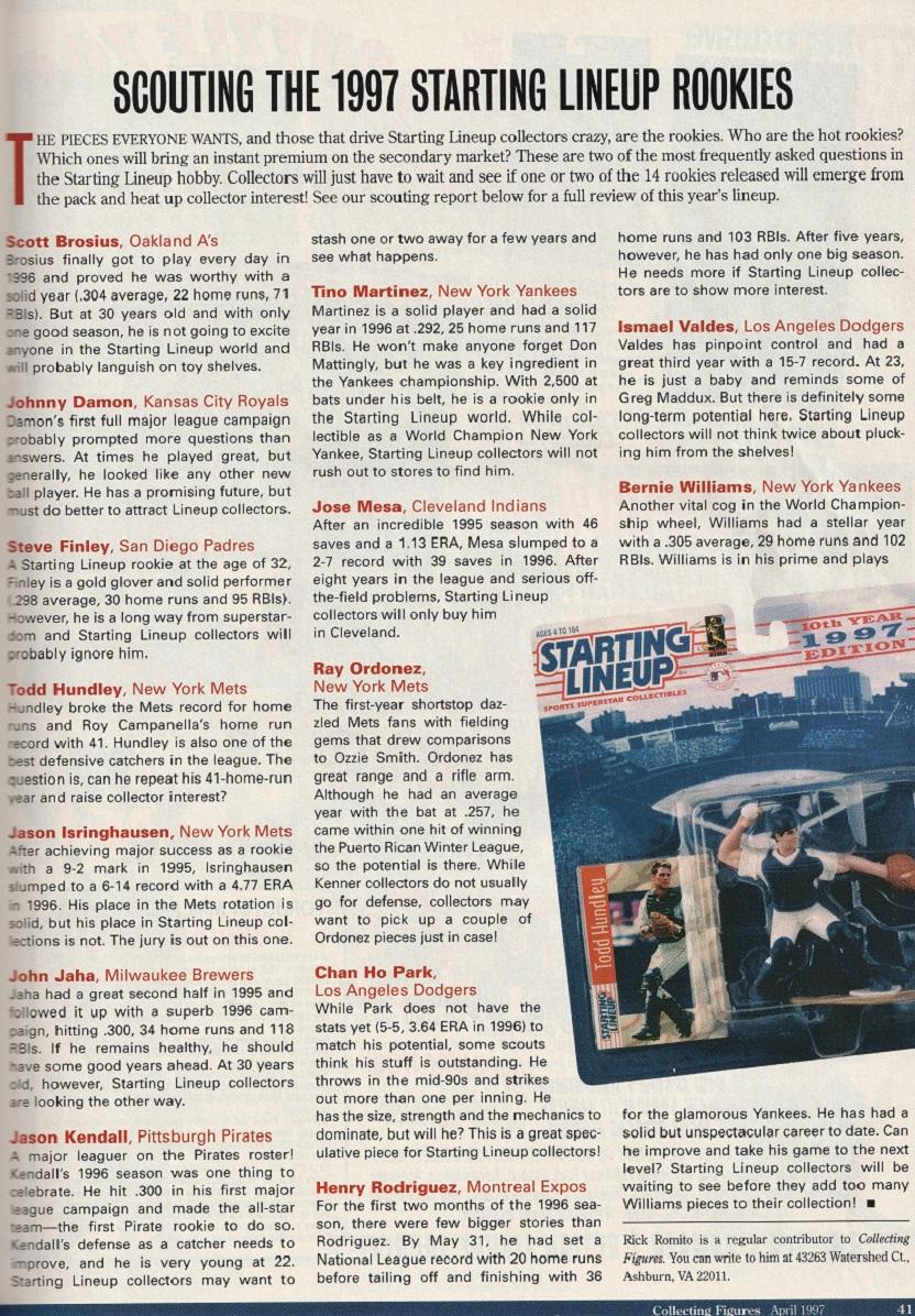 1997  CHAN HO PARK Figure /& Card LOS ANGELES DODGERS SLU Starting Lineup