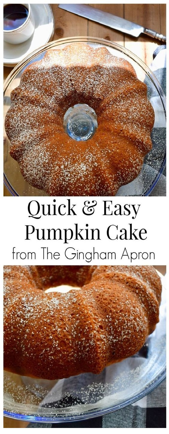 Quick And Easy Pumpkin Cake