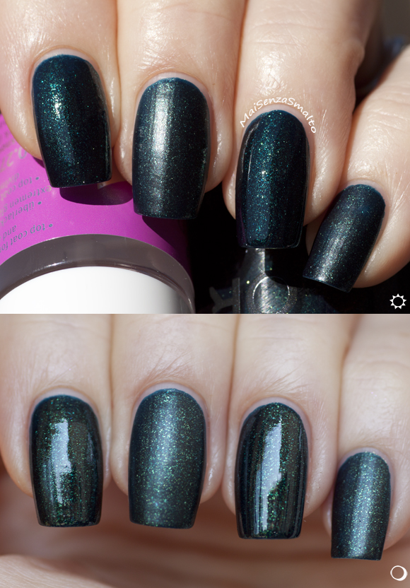 Orly Smoked Out (Smoky collection) with and without top coat