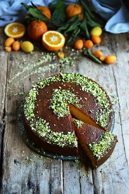 Mon gâteau fondant à l'orange et aux pistaches