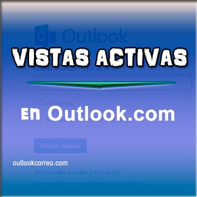 Configuración de vistas activas en Outlook.com
