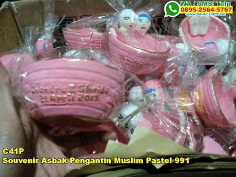 Harga Souvenir Asbak Pengantin Muslim Pastel 991