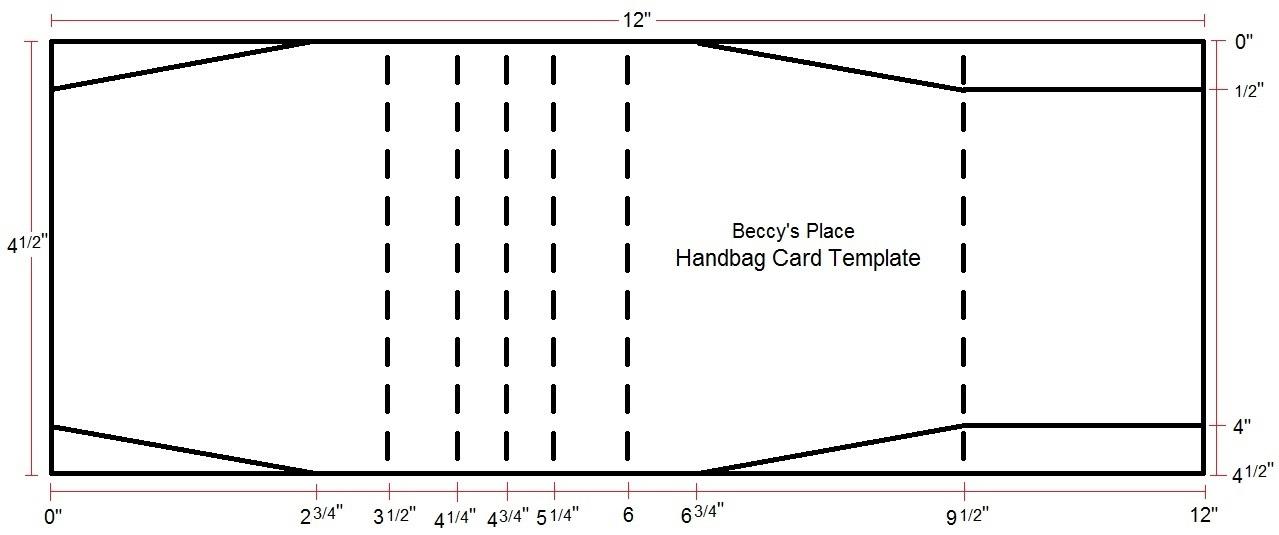 Beccy's Place: Tutorial: Handbag Card