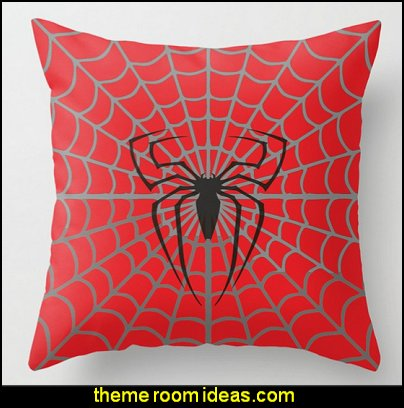 Spidey Throw Pillow  spiderman bedroom decorating ideas - Spiderman rooms - spiderman room decor -  Spiderman Bedroom Decor -  spiderman Bedroom Ideas - superhero bedrooms - Spider web curtains  - spiderweb bedding - Marvel Heroes wall murals -  spiderman bedroom decor - Avengers wallpaper murals -  superhero theme bedrooms - Superhero bedroom ideas - boys bedrooms