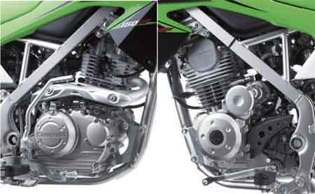 mesin kawasaki KLX 150 terbaru 2015