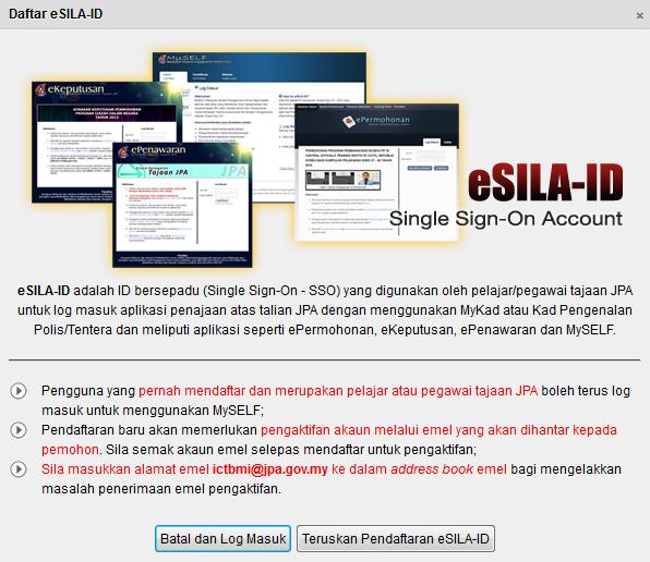 Sistem permohonan online biasiswa JPA diploma dan ijazah sarjana muda