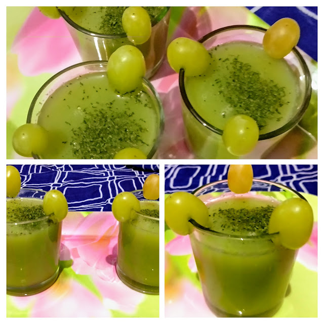 Cucumber grape refresher