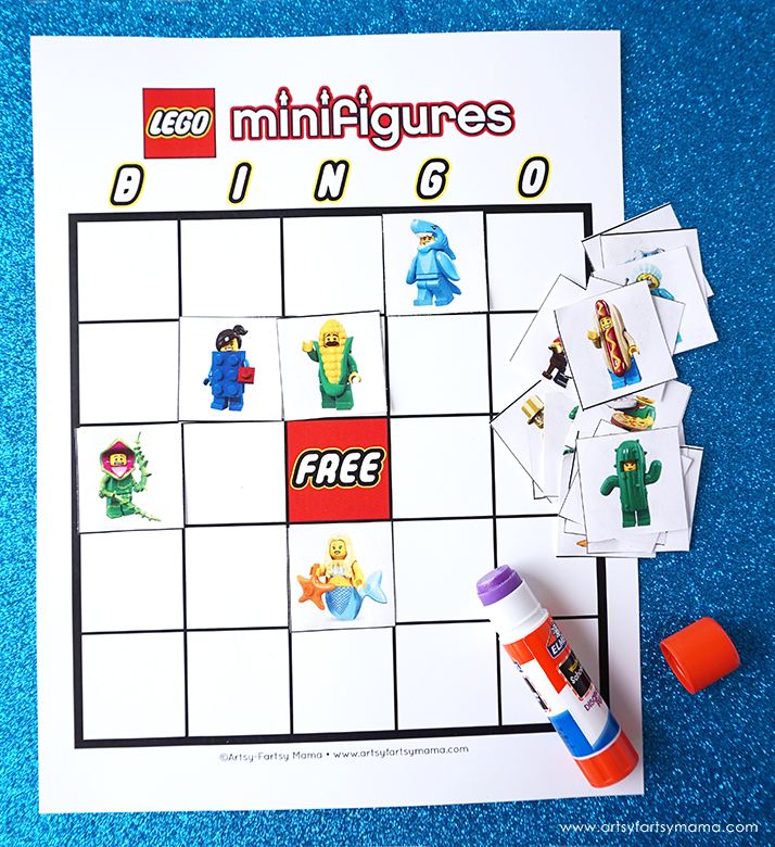 Download and print Free Printable LEGO Minifigure Bingo to play at parties and just for fun!