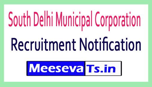 South Delhi Municipal Corporation SDMC Recruitment