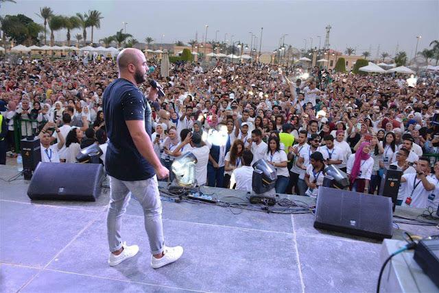 بالصور| العسيلي يتحد مع الـdj ياسر الحريري ﻹشعال حفل جامعة الـMSA