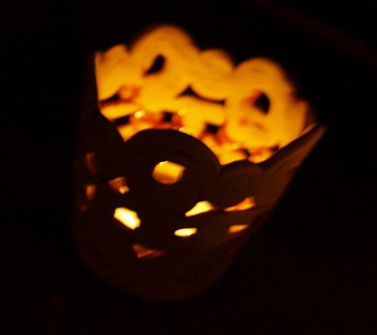 świecznik gliniany z wałeczków