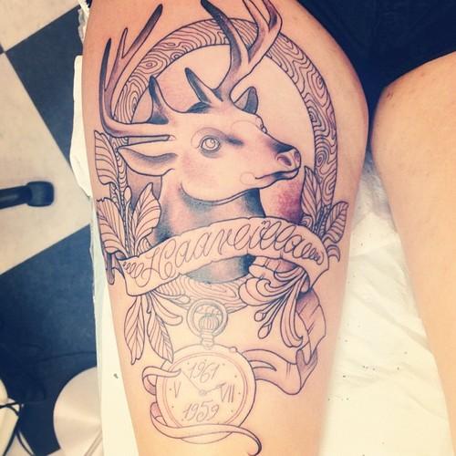 222b54b12 Deer Tattoo On Hand | Fresh Tattoo Ideas