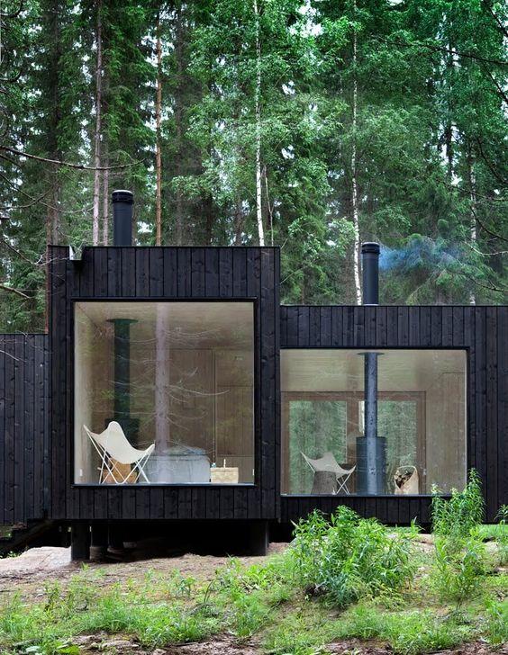 maison en bois qui noircit