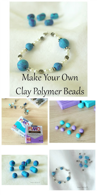 DIY clay beads supplies process finished jewelry