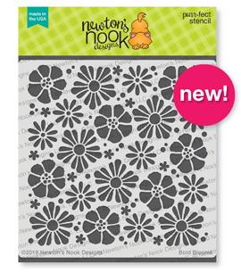 Bold Blooms Stencil | Flowers Stencil  by Newton's Nook Designs #newtonsnook