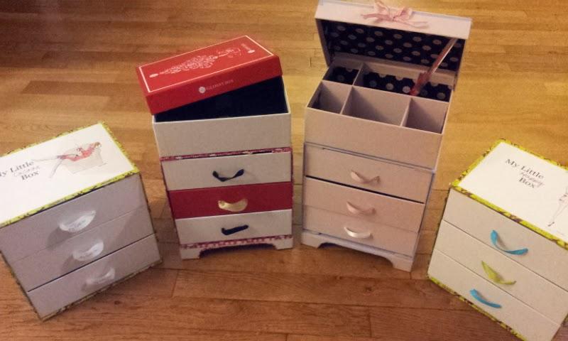 pas que pour les filles recyclage de box beaut mes astuces pour la fameuse commode 3 tiroirs. Black Bedroom Furniture Sets. Home Design Ideas
