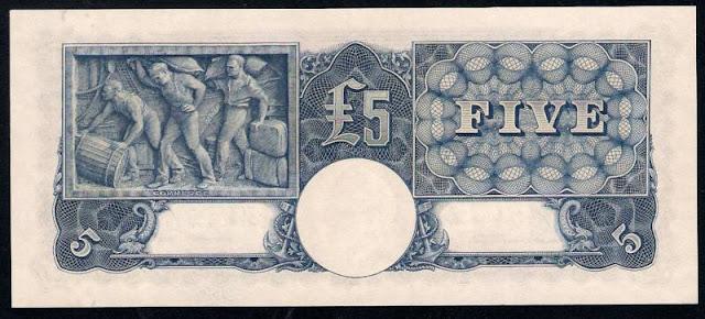 Australian 5 Pounds 1949 Commerce
