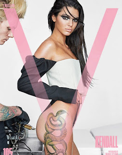 Kendall Jenner Sports a Massive Snake Tattoo on Her Latest Magazine Cover