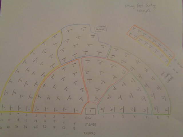 String Fest seating chart template and illustration