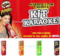 Logo Pringles: premio sicuro Kit Karaoke + microfono + speaker