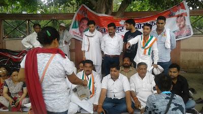 Congress Protest In Agra Uttar Pradesh