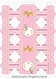 Caja para Imprimir Gratis de Princesa Osita de Peluche.