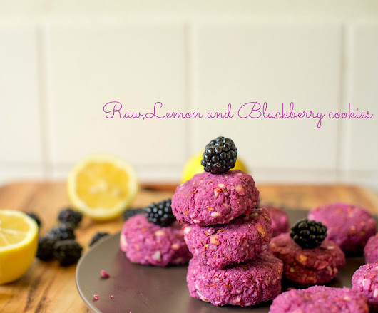 Raw lemon and Blackberry cookies!!