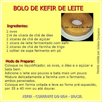 BOLO DE KEFIR DE LEITE