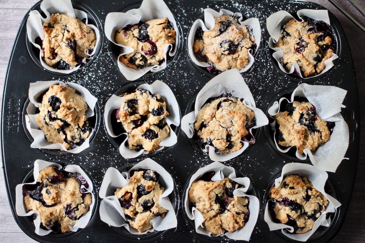 Rezept für vegane Beerenmuffins