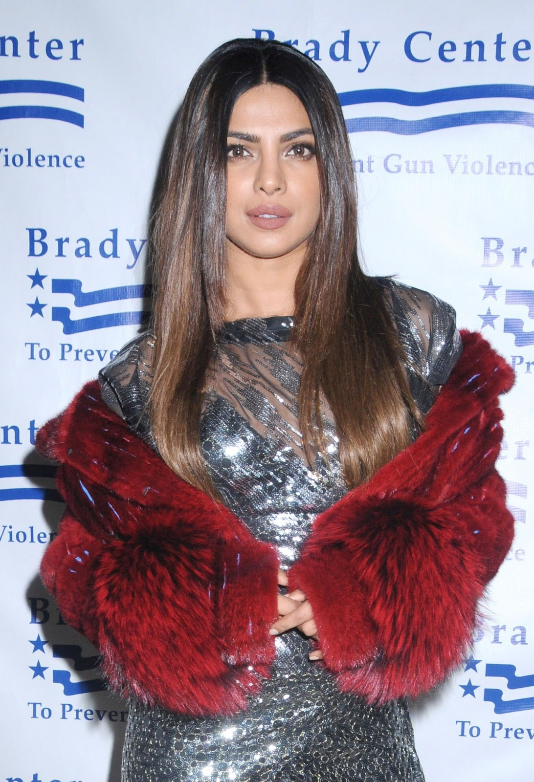 Priyanka Chopra Long Hair Stills In Black Dress
