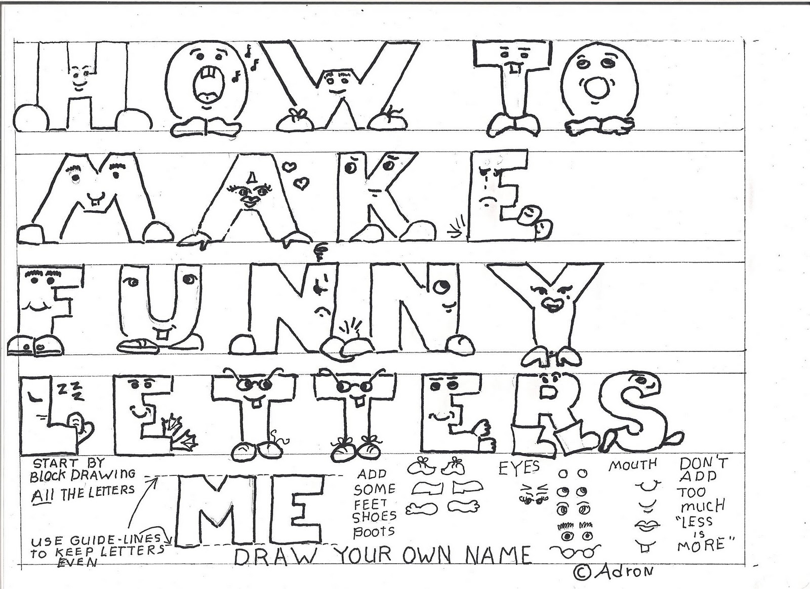 How To Draw Worksheets For The Young Artist How To Make