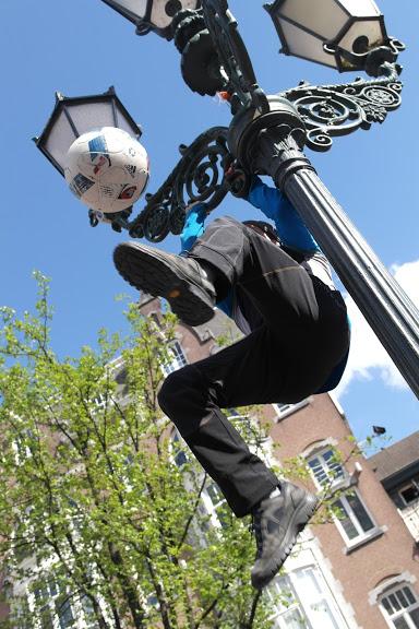 Sul palo con il pallone