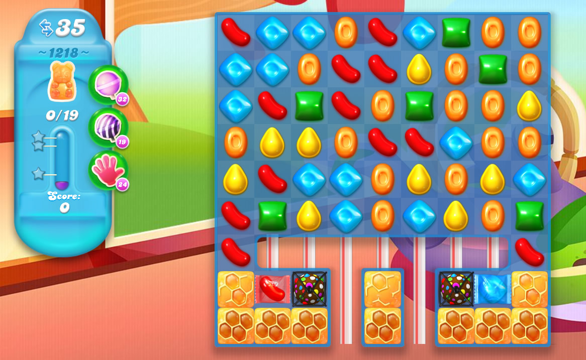 Candy Crush Soda Saga level 1218
