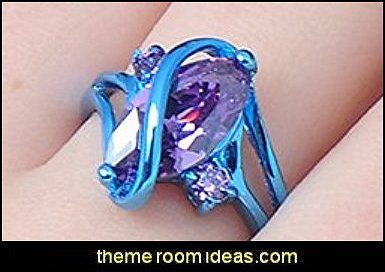 Purple Cz Ring