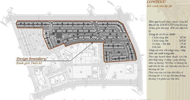 Vị trí phân khu quy hoạch mặt bằng Louis City