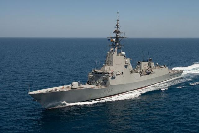"""La fragata """"Cristóbal Colón"""" ultima su preparación ante su despliegue en Australia a partir de Enero de 2017"""