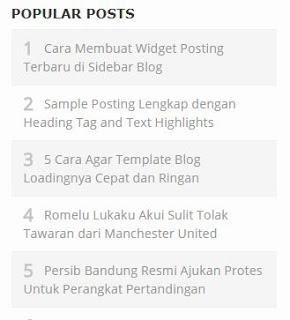 Popular Post Simple popular post widget