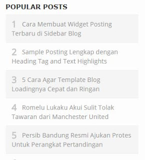 Popular Post Simple  Widget