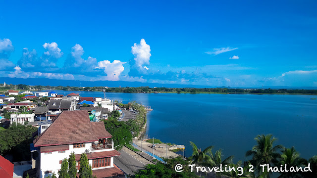 View over Kwan Phayao in North Thailand