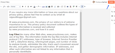 add privacy policy to blog