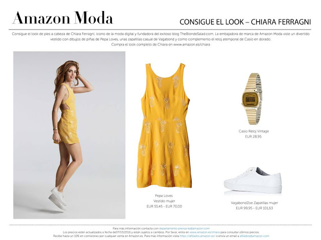 Consigue el look de Chiara Ferragni en Amazon