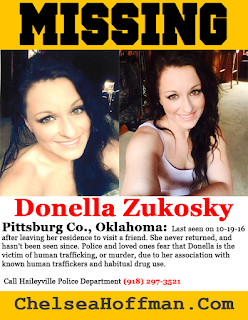 Oklahoma: Donella Zukosky missing amid human trafficking fears
