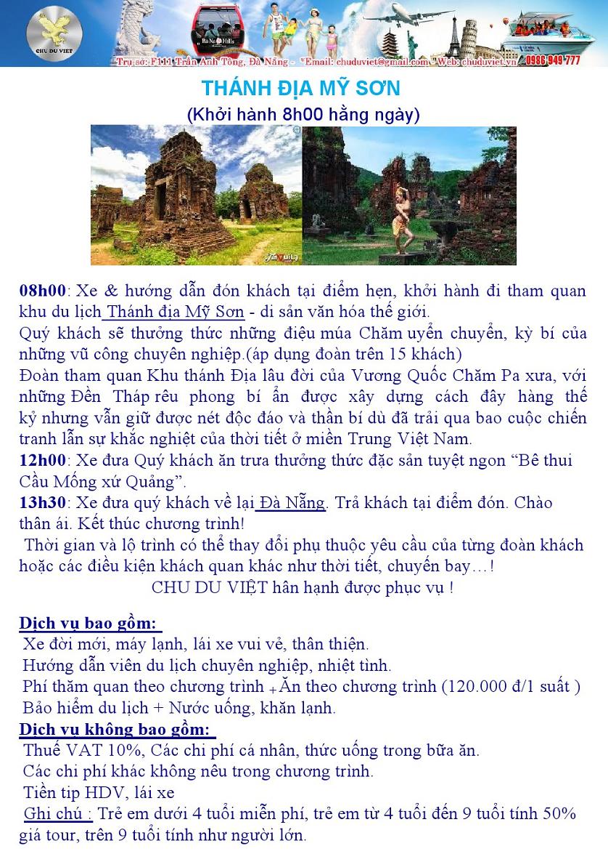 Tour Đà Nẵng - Thánh địa Mỹ Sơn